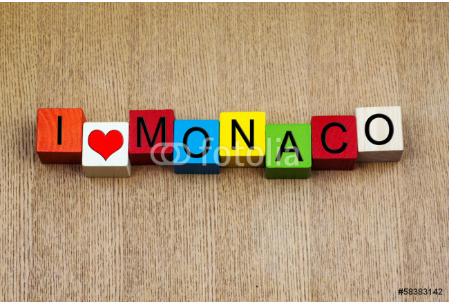 Monaco - sign series for travel destinations 64239