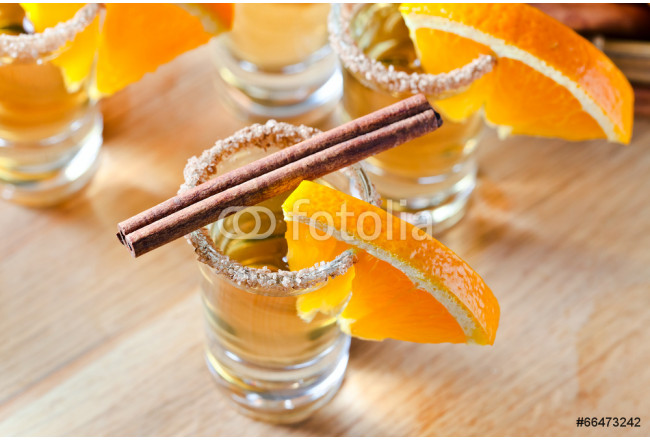 tequila with orange and cinnamon 64239
