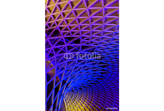 art modern metal construction of the train station in London Kin 64239