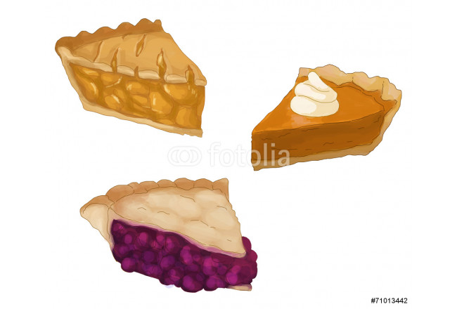 Pie slices - Apple, Pumpkin and Berry 64239