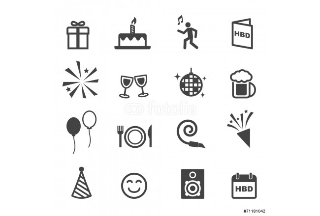 birthday party icons 64239
