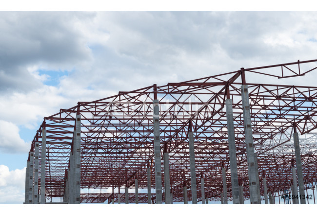 Construction site. Framework of the new building 64239