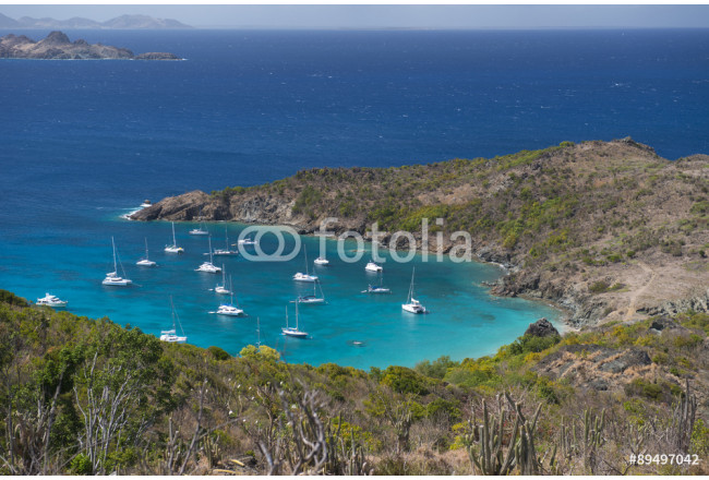 Quadro contemporaneo St. Barth Island, French West Indies, Caribbean sea 64239