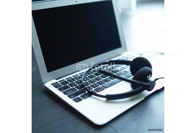 Headset on a laptop computer 64239