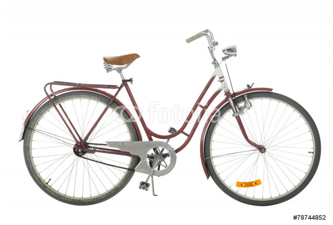 Red Old fashioned bicycle 64239