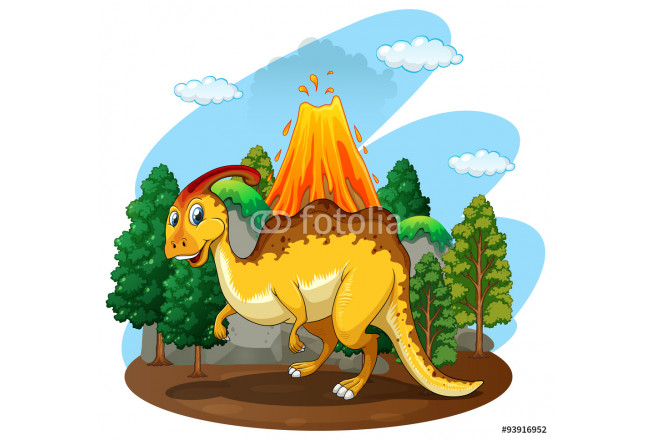 Dinosaur living in the forest 64239