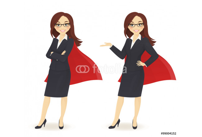 Super businesswoman in different poses 64239