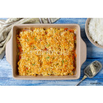 Oven-roasted fish fillet with carrots under a bread crust 64239