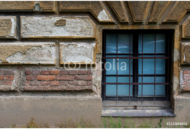 Old brick wall with a window 10 64239