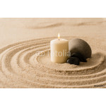 Spa atmosphere candle zen stones in sand 64239