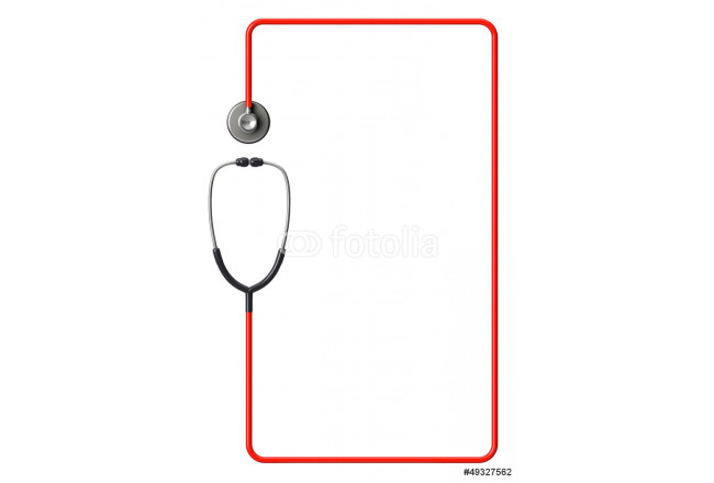 Stethoscope in red as frame 64239