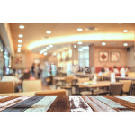 Coffee shop blur background with bokeh image . 64239
