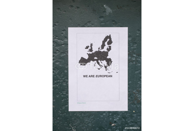 Obraz nowoczesny A poster in favour of a vote to remain in EU 64239
