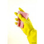 Rubber gloves with a sponge 64239