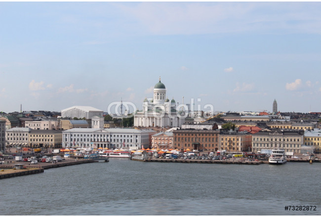 The panorama of the Helsinki city. Helsinki Cathedral. 64239
