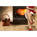 woman legs and fireplace 64239