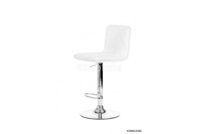 White modern bar Chair isolated over white background 64239