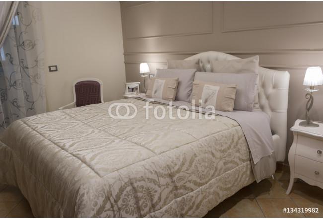Bild auf leinwand la camera da letto die modernen