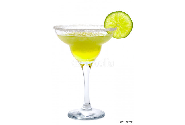 Cocktail Frozen Margarita  or Daiquiri isolated on white 64239