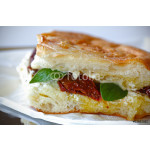 Grilled sandwich with fresh cheese and sun dried tomatoes 64239