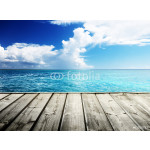 Caribbean sea and wooden platform 64239