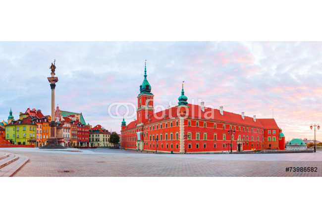 Castle square panorama in Warsaw, Poland 64239