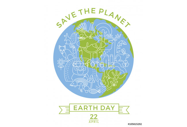 Earth Day. Conceptual design for the conservation of nature. 64239