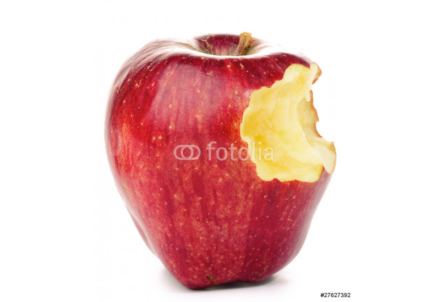 Bitten Red Apple isolated on white 64239