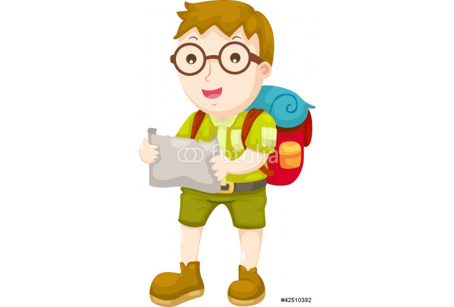 Kid Hiking vector illustration on a white background 64239