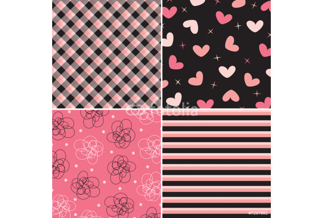 pink and black pattern combo 64239