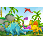 Dinosaurs living in the jungle 64239