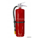 Green chemical fire extinguishers isolated on white background 64239