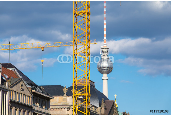Construction Site in Berlin with the TV Tower and German Museum 64239