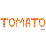"Inscription ""TOMATO"" from cherry tomatoes 64239"