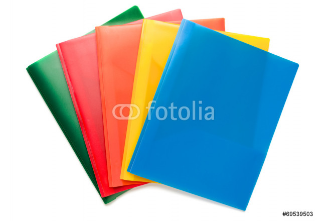 Multicolored Document Folders on White 64239