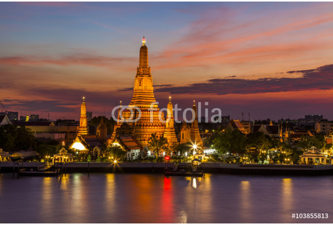 Wat Arun Temple at sunset. Bangkok. Thailand. 64239