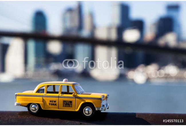 Bild Auf Leinwand Yellow Taxi New York