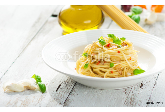 Pasta, Spageti olive oil and peperoncino 64239