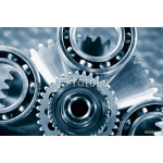 ball-bearings and cogwheels, titanium and steel aerospace parts 64239