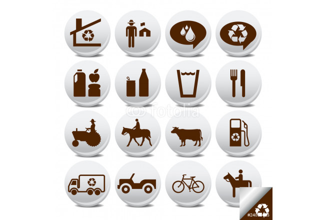 Vector icons pack- farm life 64239