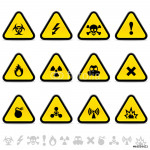 Set of warning triangles 64239
