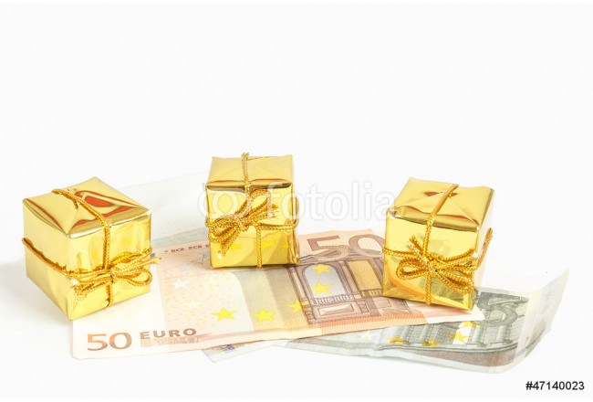 money concept with euro banknotes for gifts 64239