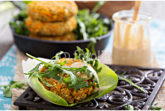 Vegan burgers with sweet potato and chickpeas 64239