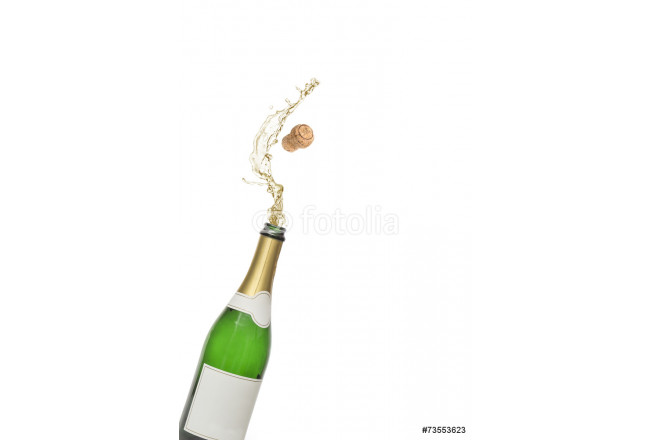 Cork popping out of champagne bottle 64239