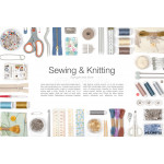 sewing and knitting on white background 64239