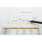 line graph of your department  with a pencil point 64239