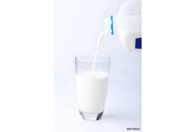 glass of milk on white background 64239
