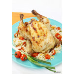 Whole stuffed and baked holiday chicken 64239