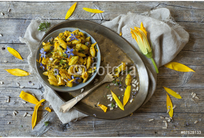 summer flowers pasta with seeds and petals flowers and spices 64239