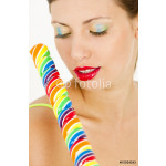 portrait of woman with a lollypop 64239